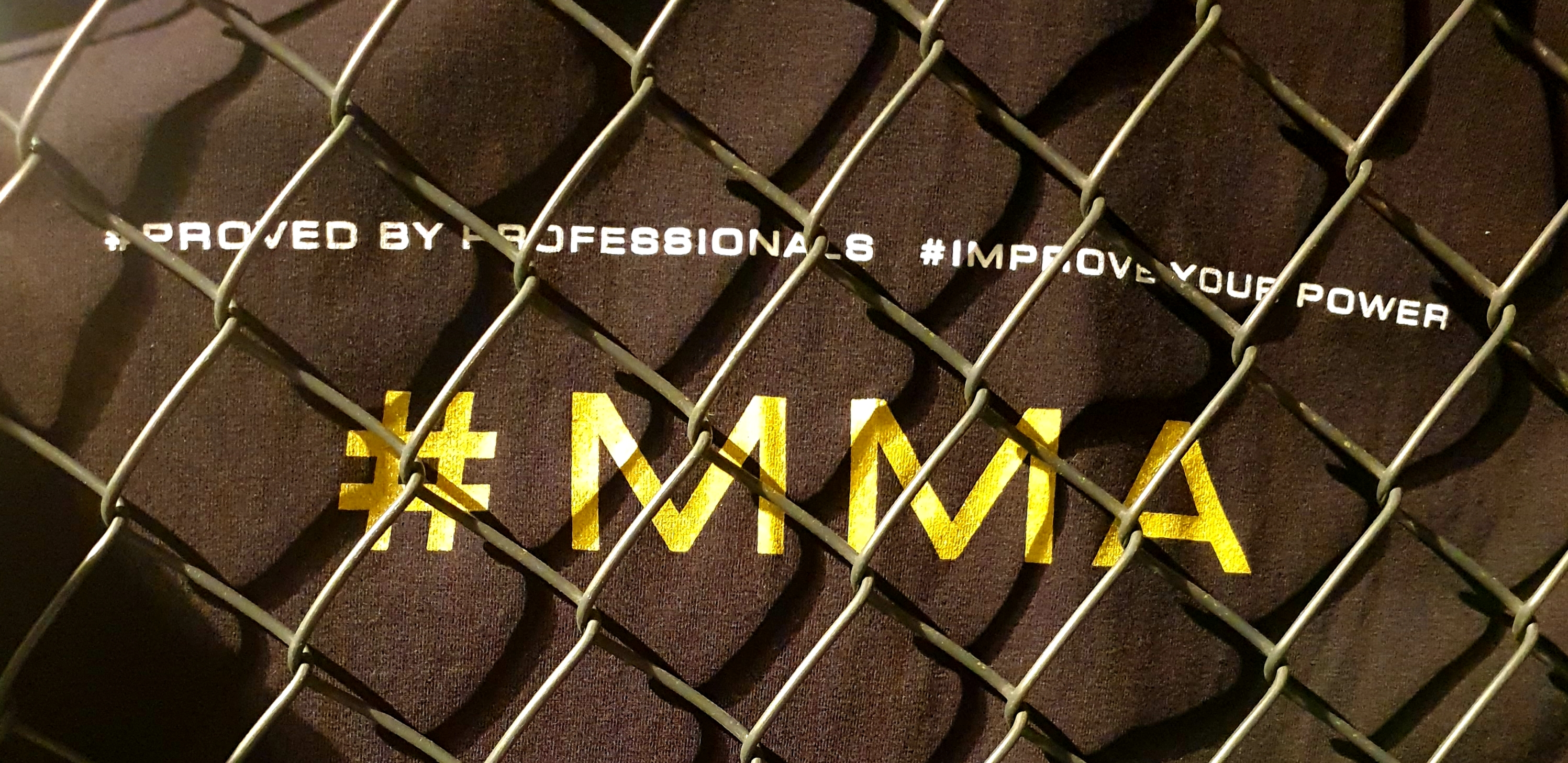 MMA, Mixed Martial Arts, Proved By Professionals, Improve Your Power, FEFLOGX Sportswear, Cage Wall.